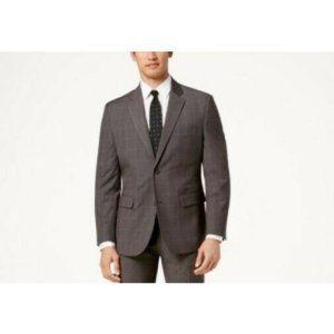 Nautica Grey Windowpane Active Suit Jacket